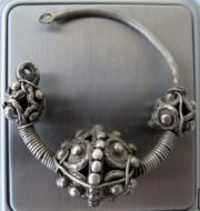 Серебряный древнерусский колт