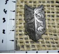 Татарская бронзовая застежка с крюком