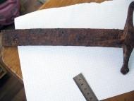 Рукоять и часть клинка от шляхетской гусарской сабли 17 века