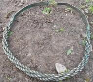 Древнерусская серебряная сложноплетённая 8-ми жильная шейная гривна