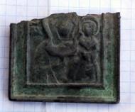 нательная икона БОГОМАТЕРЬ СМОЛЕНСКАЯ 18-19 век