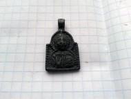 Створки энколпиона, древнерусская нательная арочная иконка «Спас», позолоченная игла