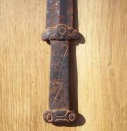Скифский Акинак с гардой в виде Лося и навершием в виде Грифона VI-III вв. до н. э.