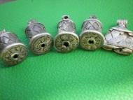 Древнерусские серебряные шумящие подвески-колокольчики покрытые зернью