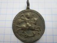 Древнерусская нательная иконка «Святой Георгий побивающий змея»