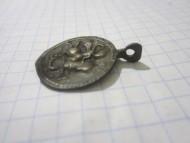 Круглая нательная иконка «Святой Георгий побивающий змея»