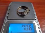 Перстень воина с утратами (серебро)
