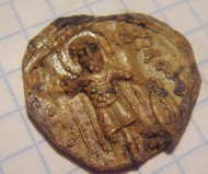Свинцовая вислая печать Михаил-св.Федор-Мстислав Мстиславович 1125-1159г.