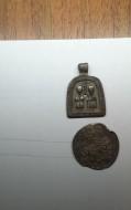 Иконка «Святые Бессребренники Косма и Дамиан» 14-15 век.