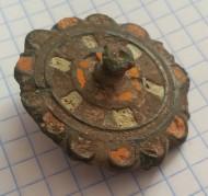 Круглая фибула с перегородчатыми эмалями, поздняя Римская империя