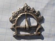 Древнерусская серебряная ременная пряжка