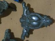Средневековая бронзовая накладка на сумку-сухарку