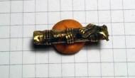 Золотая пустотелая подвеска Черняховской культуры