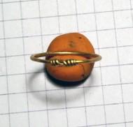 Мелкое золотое височное кольцо Черняховская культура