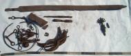 Обоюдоострый меч 8-9 века с широким долом и другие предметы