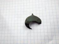 Древнерусская бронзовая лунница с эмалями