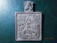 Нательная иконка «Вход Господень в Иерусалим» 17-19 век