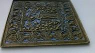 Икона бронзовая c синей эмалью 17-19 век