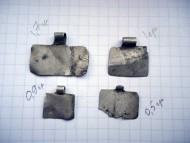 Тонкие прямоугольные серебряные привески Черняховской культуры