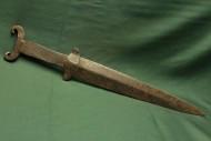 Скифский акинак с когтевидным навершием и ложно-треугольной гардой, V-IV до н. э.