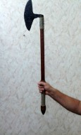 Широколезвийный черешковый топор-секач