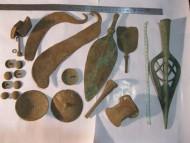 Клад бронзовых изделий с прорезным наконечником копья 15-12 век до н. э.