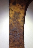 Трубчатообушный топор 16-18 века с клеймами