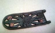 Щиток шарнирной пряжки. Раннесалтовский период, середина VII - VIII век