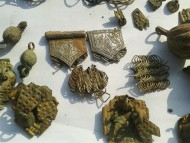 Клад серебряных изделий, с серебряными монетами XVI века