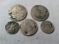 5 серебряных монет XVI века