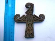 Крестовидная скифская бляха «ольвийского» типа. VI-V в.в. до н.э.