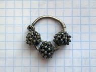 Трехбусинное филигранное височное кольцо, Древняя Русь