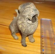 Бронзовая фигурка льва - сосуд для благовоний, Зап. Европа 11-13 в.в.