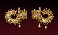 Богатое височное украшение, приобретенное до Первой мировой войны в Варне ( Болгария, побережье Черного моря), первая половина 5-го века н. э.