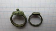 Два бронзовых древнерусских перстня