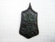 Трапиевидная привеска «Тризуб-рарог» родовой знак Рюриковичей