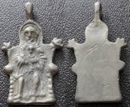 Бронзовая икона-привеска «Тронная Богородица», 12-13вв