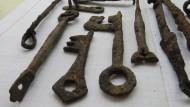 Ключи, периода Киевской Руси 10 шт. + фрагменты шпор