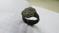 Средневековый перстень с пентаграммой на щитке