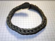 Древнерусский витой серебряный браслет с сюжетными окончаниями