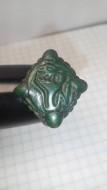 Перстень с щитком в зверином стиле. Аланы, Салтово-Маяцкая культура