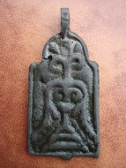 Привеска двусторонняя: Тризуб-Процветший крест