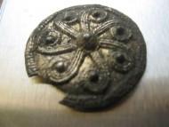 Щитовидня подвеска «Коловрат» Киевская Русь, серебро позолота