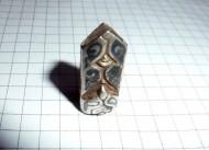 Серебряная двусторонняя бляшка-пронизь - «Сова», Киевская Русь