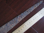 Треугольный клинок скифского меча