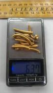 Разомкнутая золотая порубленная гривна, 370-400 гг. Черняховская культура
