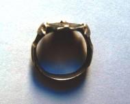 Золотоордынский перстень с рогами и чернением
