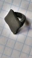 Простая бронзовая скифская сбруйная бляшка