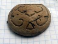 Древнерусская свинцовая матрица для изготовления колта