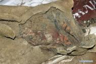 вид мумии из войлочной обертки